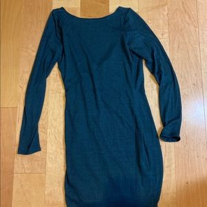 Aritzia Wilfred Free Teal Low Back Dress